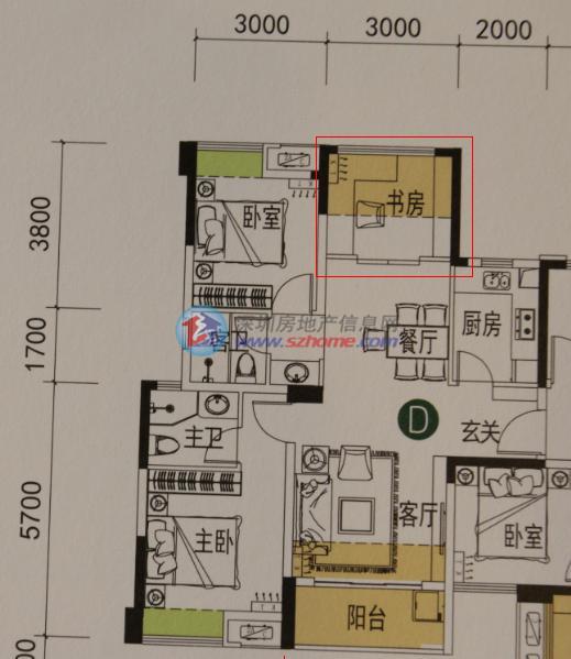 两梯四户,梯户比和户型朝向塔楼布局都要比9栋合理得多.