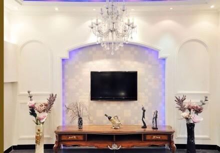 电视背景墙装饰选择硅藻泥为您的爱家独添一份与众不