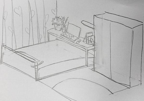 床怎么画简笔画步骤