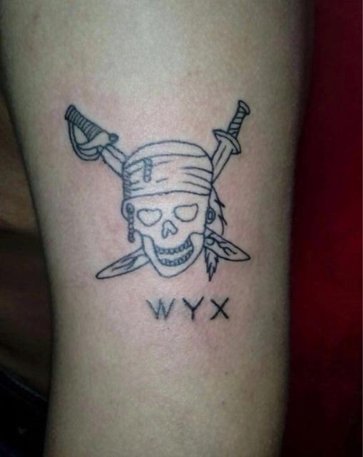 马岩疑似与前任王雪妍复合秀纹身大写字母加骷髅在表明什么