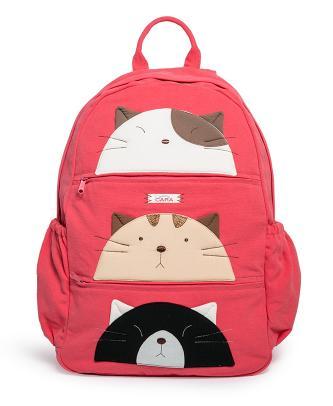 可爱猫简单书包