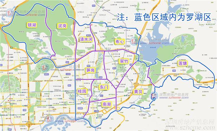 罗湖区和南山区(县级建制),至1997年沙头角镇,盐田与梅沙街道办事处从图片