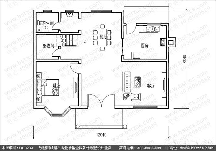 占地100平方左右农村二层自建房设计全套图纸
