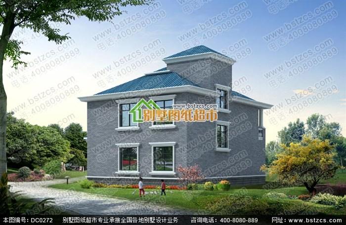 二层半农村别墅户型设计图纸