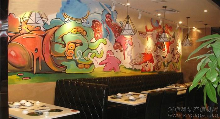 火锅涂鸦手绘墙