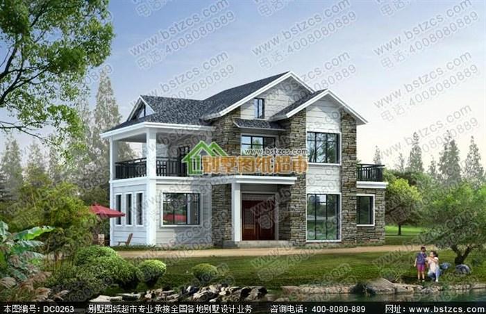 8米12米一层带阁楼农村小别墅设计图纸 (700x452)-二层三层农村欧