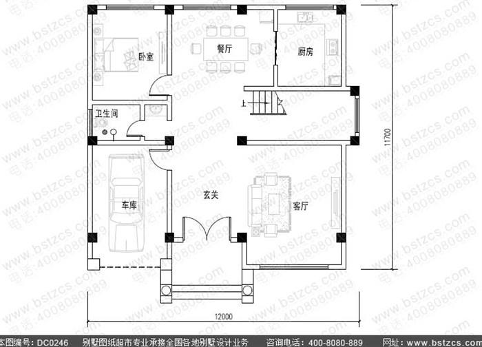 7米四层欧式豪华别墅图纸和建筑图大全