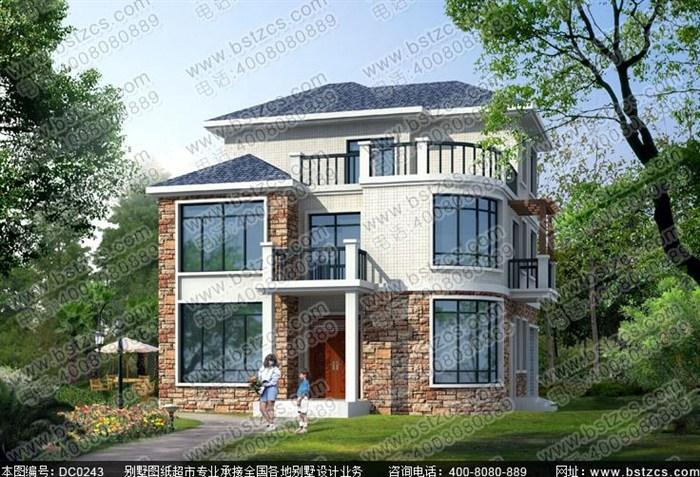 11米×11米三层简欧农村小别墅效果图和施工图纸_鼎川别墅图纸超市