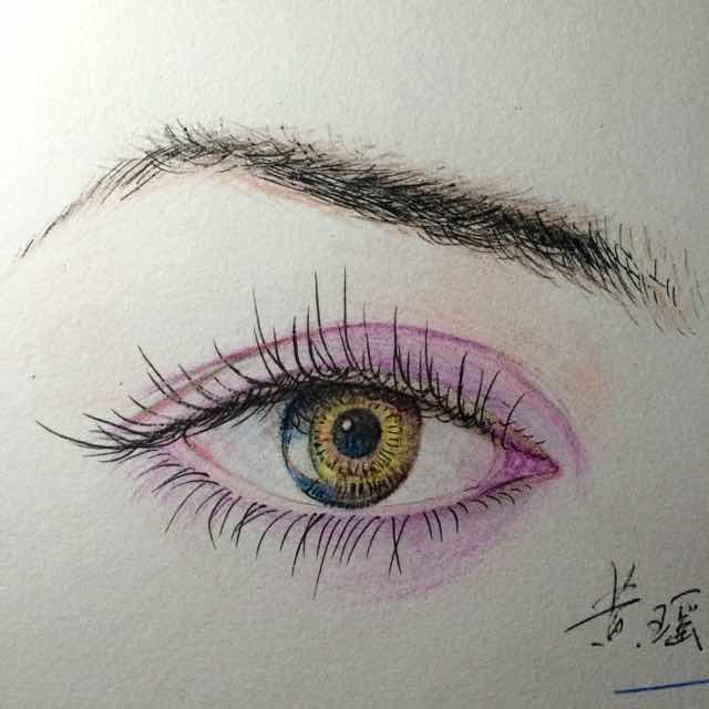 欧式妆彩铅画法