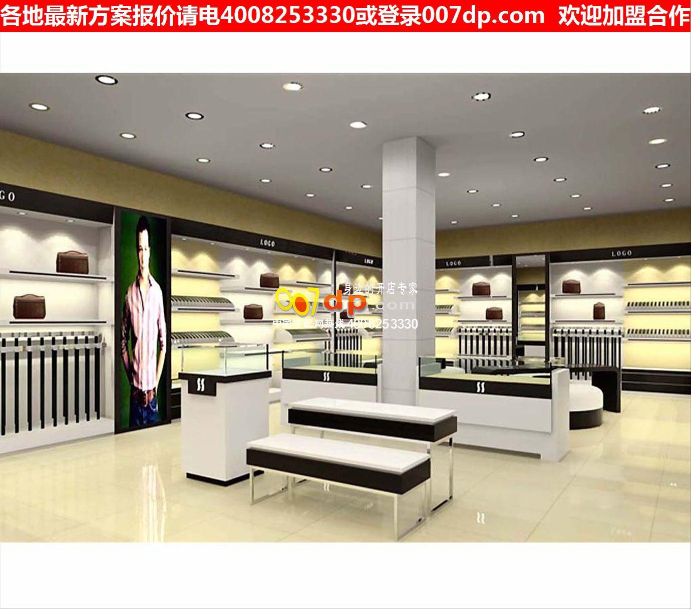 时尚服装店装修货架创意服装展柜简约服装店装修效果