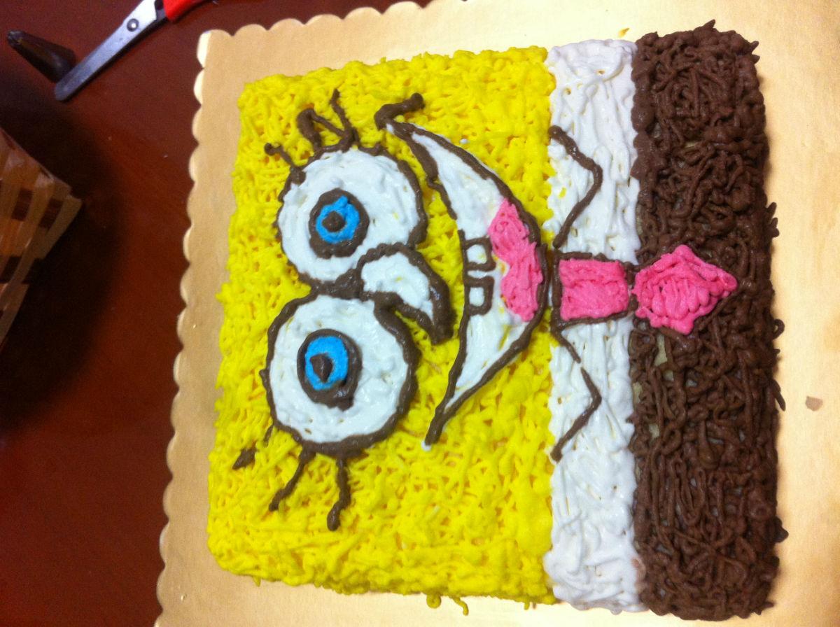 > 秀一下邻居最新生日蛋糕新做-----少见的可爱爸爸款生日蛋糕,宝宝们