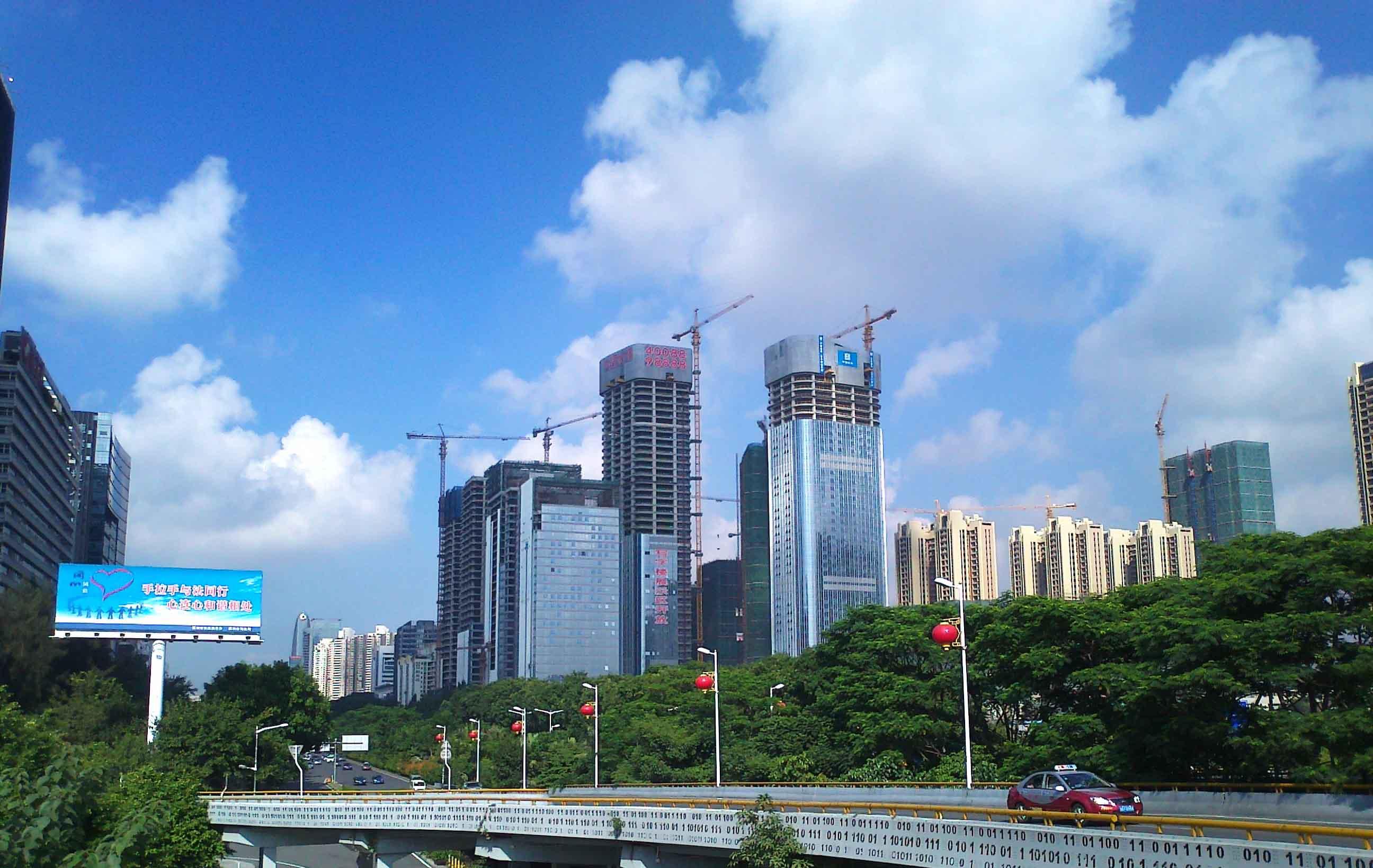 空中俯瞰南山区 - 深圳房地产信息网论坛图片