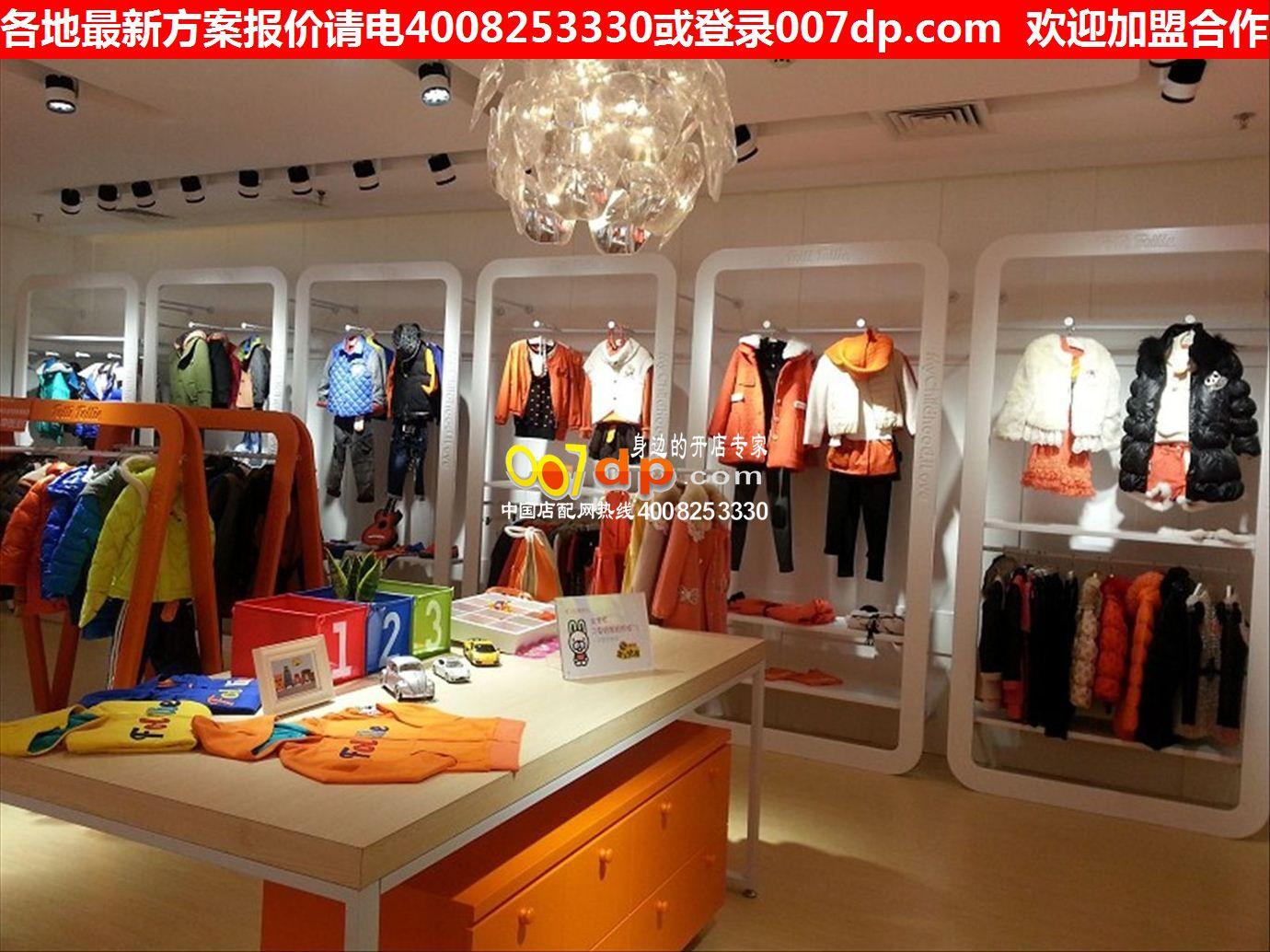 创意童装店装修效果图大全个性童装货架展柜设计1204