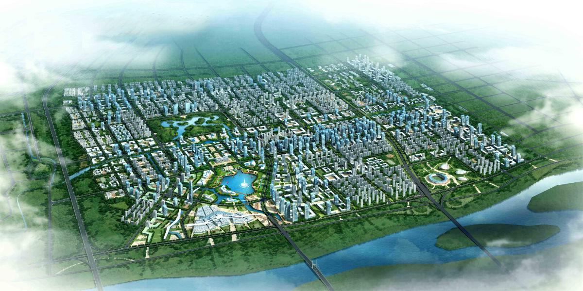 旧县乡时代新城规划图