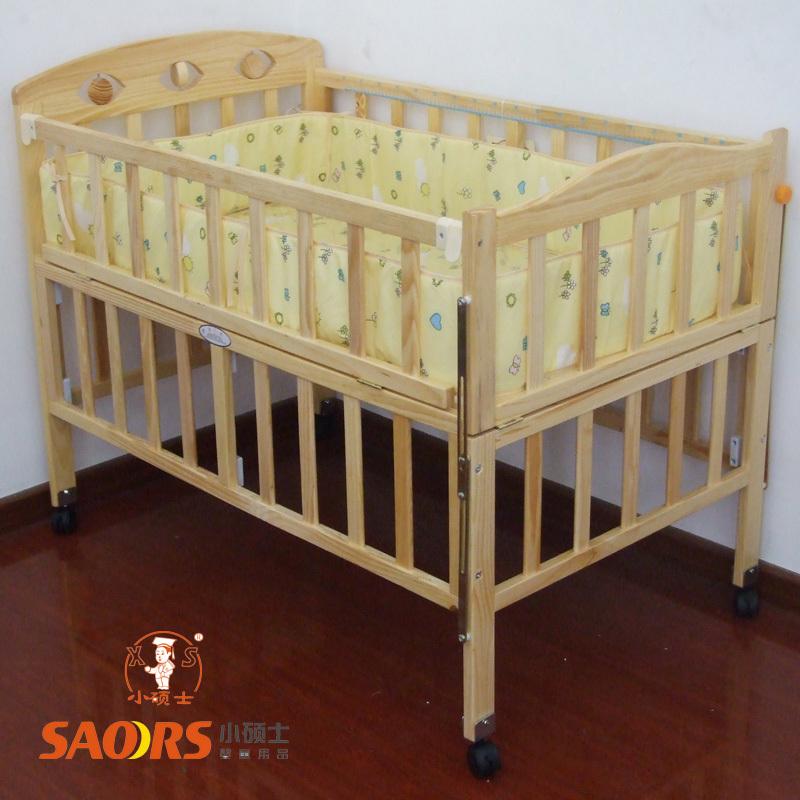 转让实木婴儿床,宜家儿童餐椅