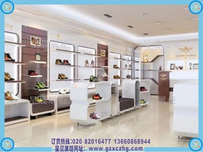 个性鞋店装修鞋店展示柜