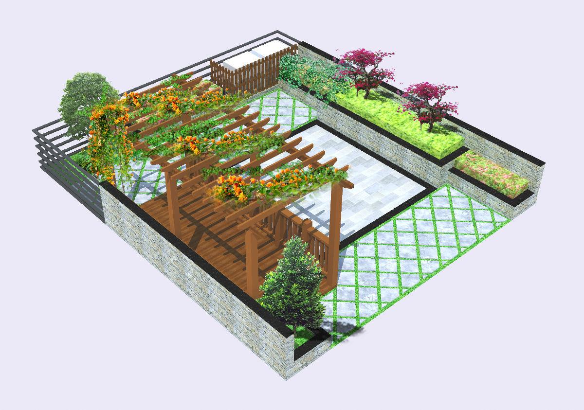深业紫璘山--别墅庭院小花园