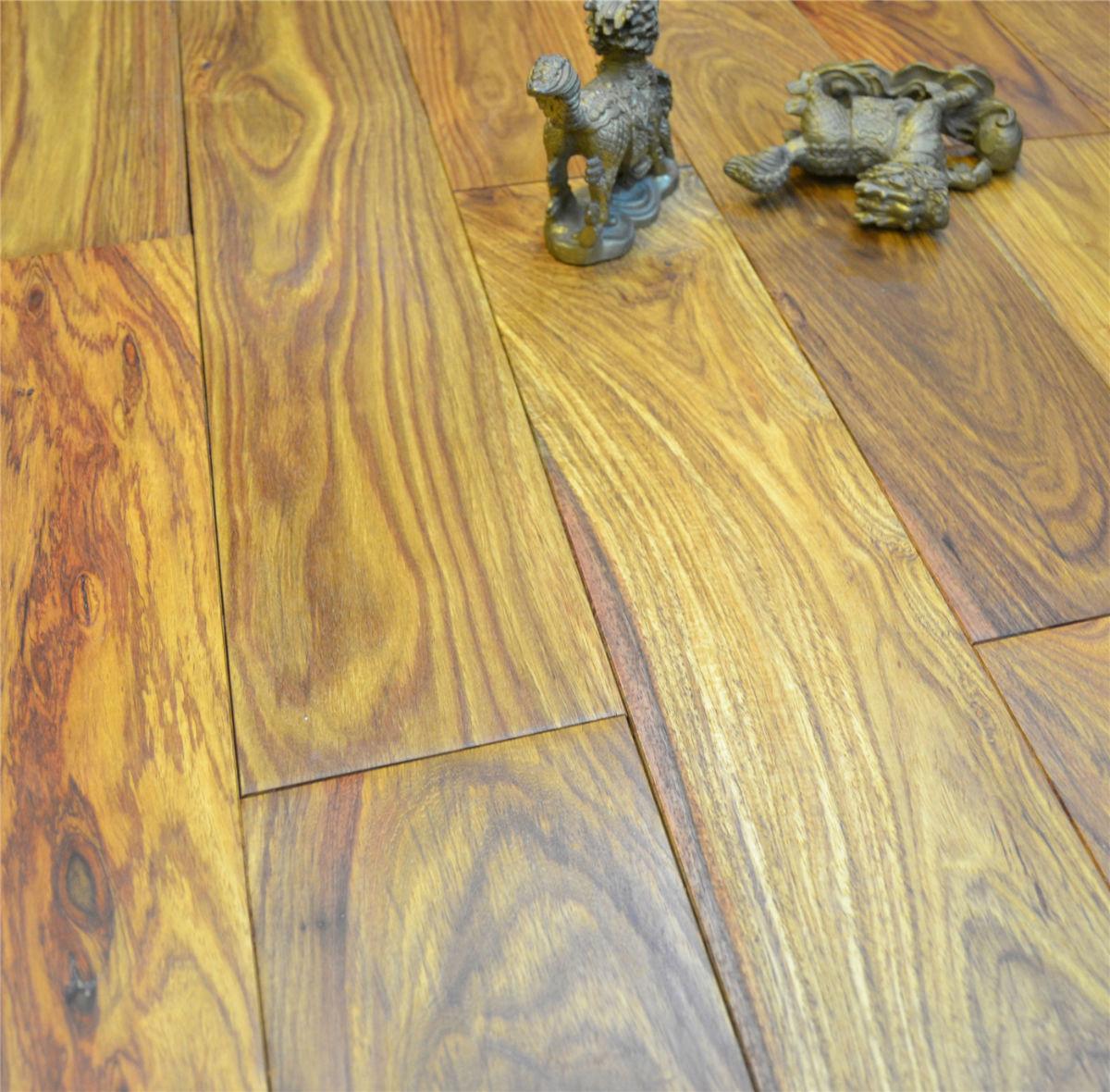 观澜木地板厂家定做木腊油清漆花梨木地板