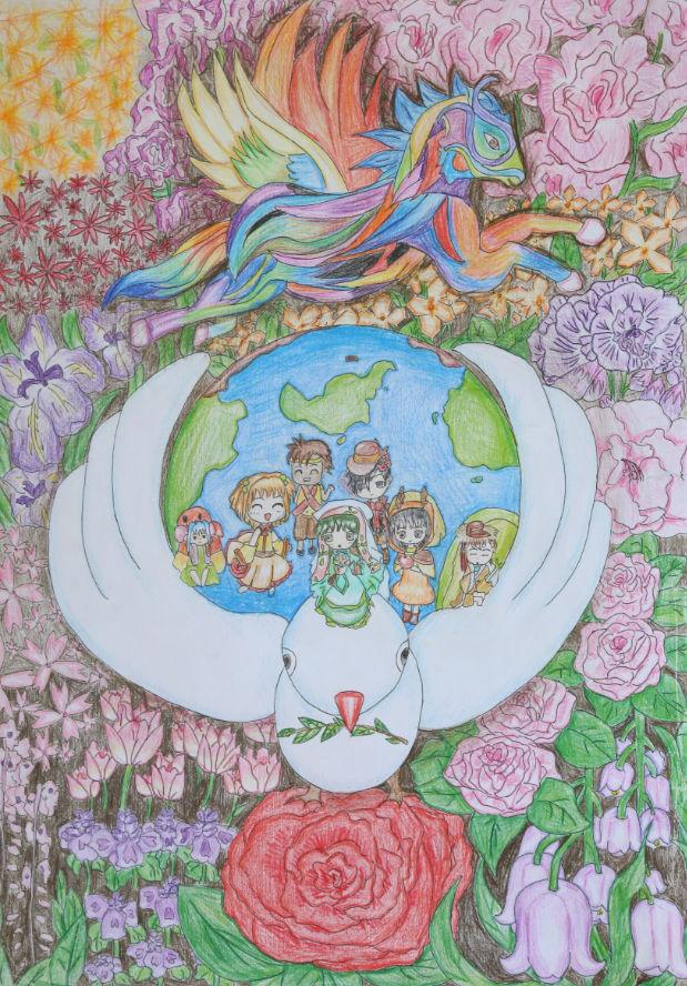 【分享和平】2015-2016和平海报绘画主题图片