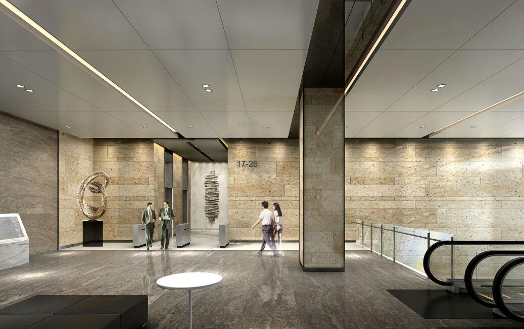 尽显企业尊贵感   粤商中心作为龙华新区首个双大堂甲级写字楼,办公图片