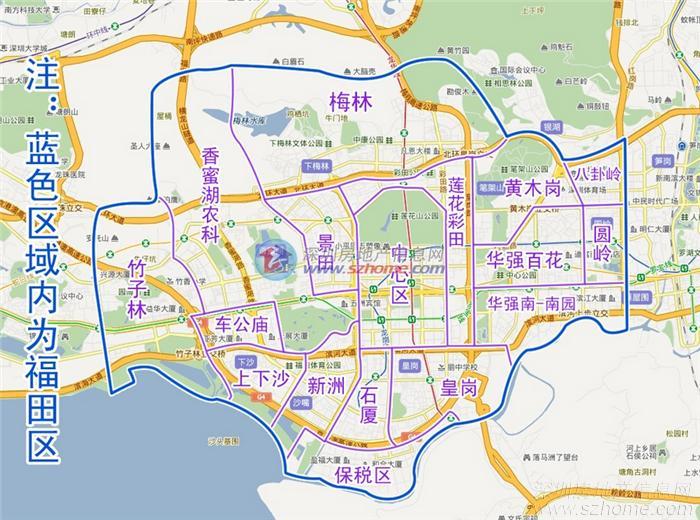 龙华区街道地图