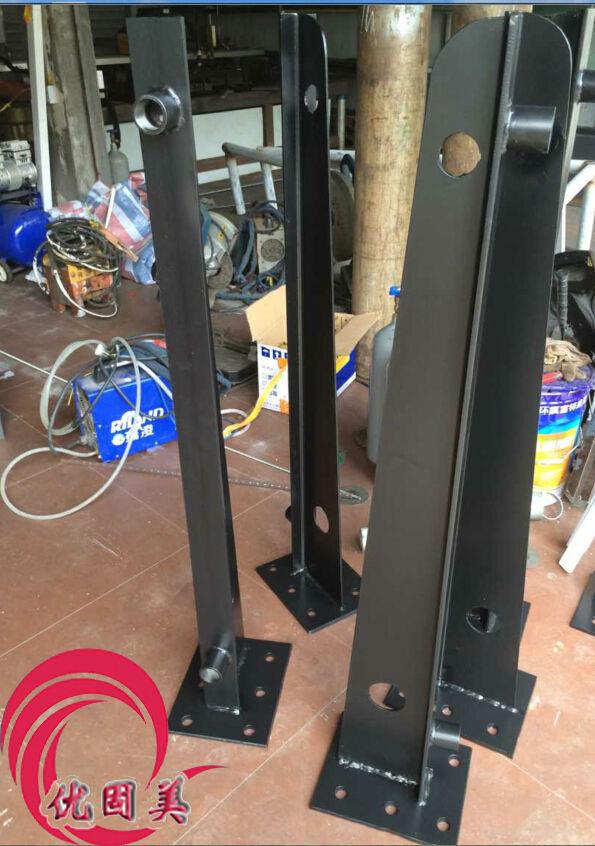 > 钢结构玻璃雨棚牛腿支架 钢梁 预埋件