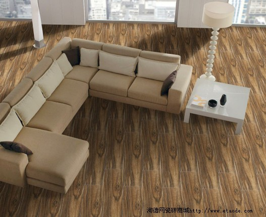 而木纹砖装修的客厅,清新俊逸