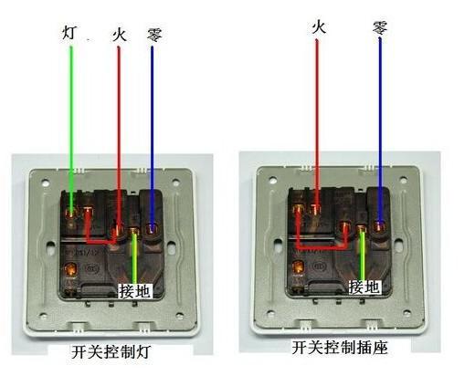 装修论坛  装修交流  > 一开五孔的接线方法   开关控制电灯的接法: 1