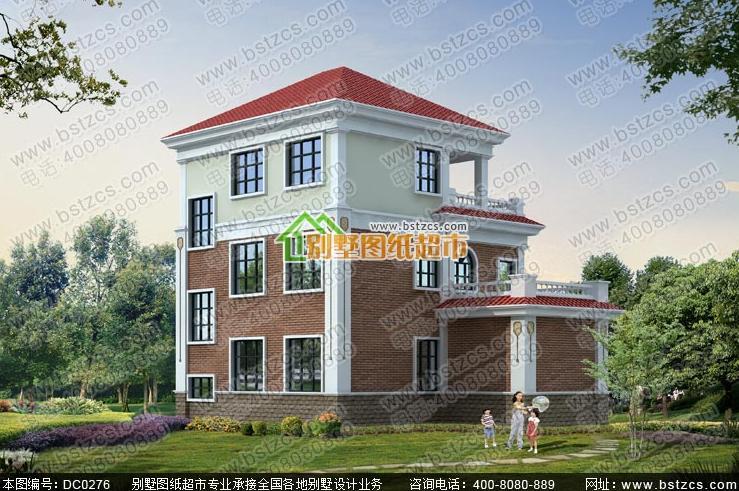 3米三层欧式小别墅设计图纸