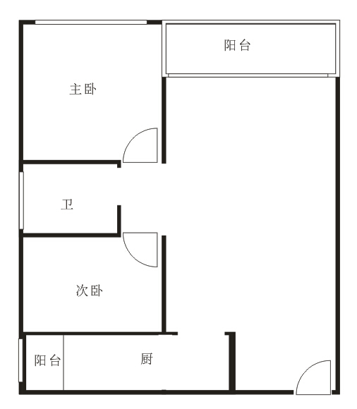 2房户型图来罗(根据网友手绘版绘制,仅供参考)
