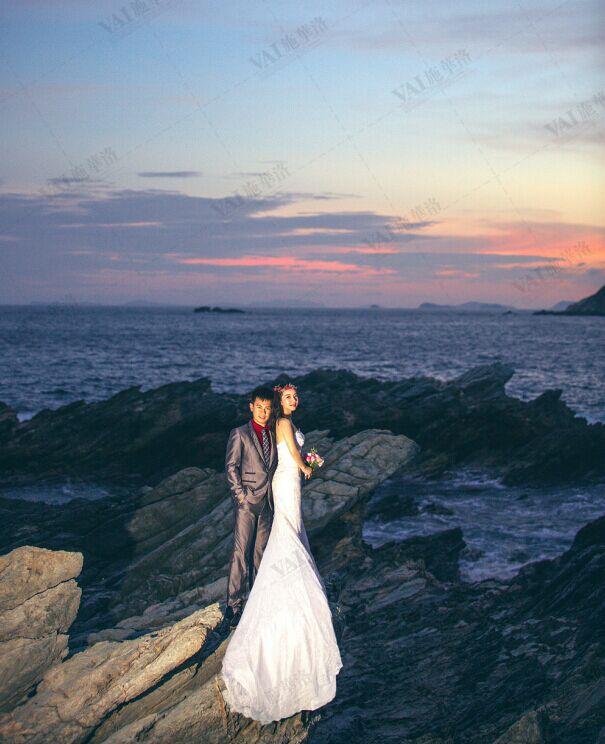婚嫁 结婚 > 海边夜景婚纱照                             发表于
